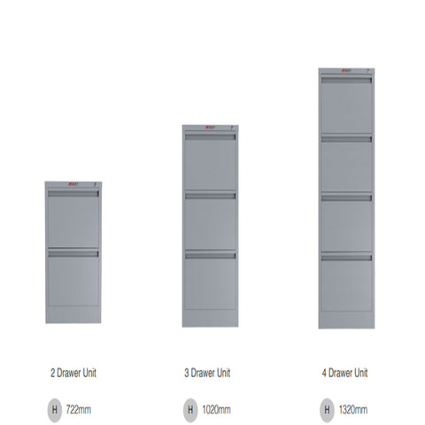 ausfile-4-drawer-vertical-filing-cabinet-fc-4 Full range of vertical filing cabinet