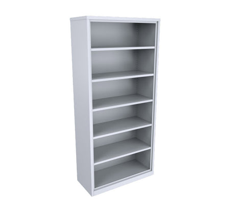 ausfile-bookcase-1930-high-with-5-adjustable-shelves-bcs-1930 White Shelf