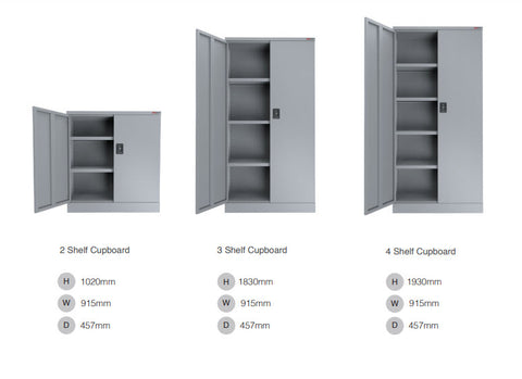 ausfile-stationery-cupboard-1830-high-3-shelves-cup-1830 Stationery Cabinet Dimensions
