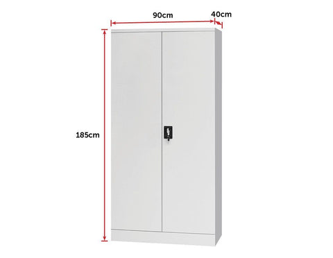 Two Door Lockable filing Cabinet - Grey office cabinet
