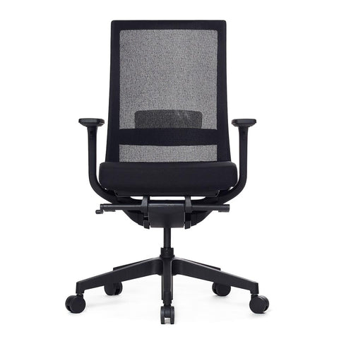 A-One Black Mesh Ergonomic Task Chair Front