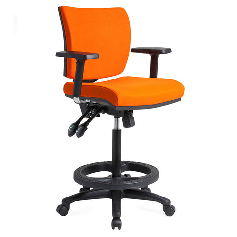 APOLLO DRAFTING CHAIR ORANGE