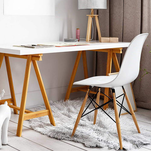 Artiss Set of 2 Replica Eames Eiffel Dining Chairs White suitable for offices