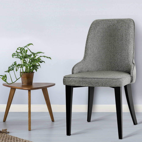 Fabric Dining Chairs x 2 - Grey dining chair
