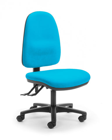 alpha logic high back task chair turquoise