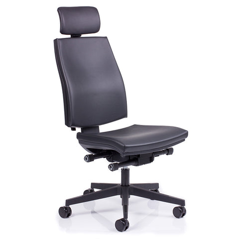kinetic executive leather office chair