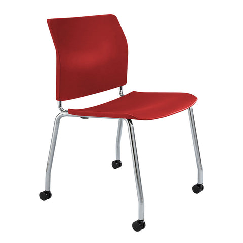 CS One 4-Leg Visitor Chair Red