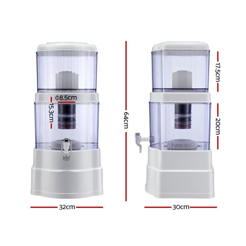 Ceramic Water Purifier 7 Stage Water Filter Dispenser Bench Top 22L Cartridge dimensions