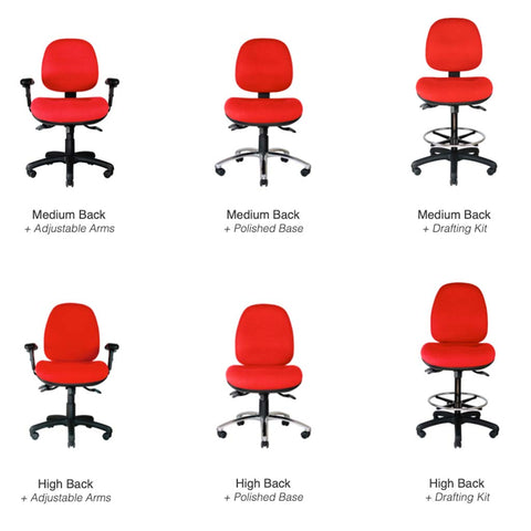 Centor Max Task Chair Options