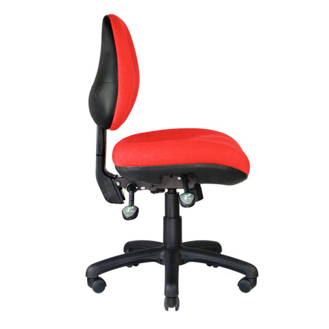 Centor Max Task Chair Red Side No arms