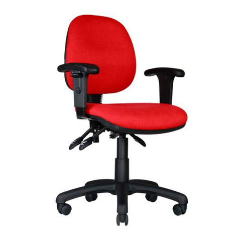 Centor Task Chair Red Arms Front Left