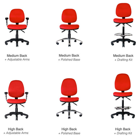 Centor Task Chair Red Options