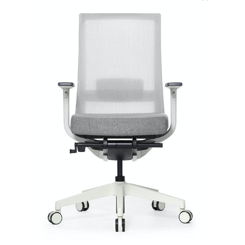 A-One Black Mesh Ergonomic Task Chair White with grey mesh