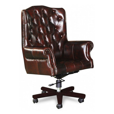 Chesterfield leather office chair