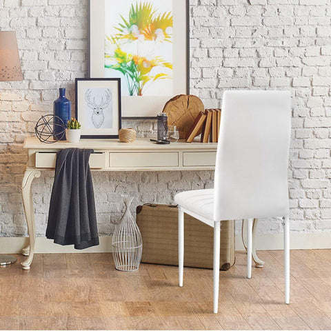 Artiss 'Astra' Set of 4 Dining Chairs PVC Leather - White suits any room