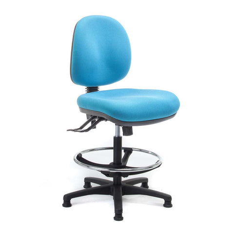 Delta drafting chair with glides