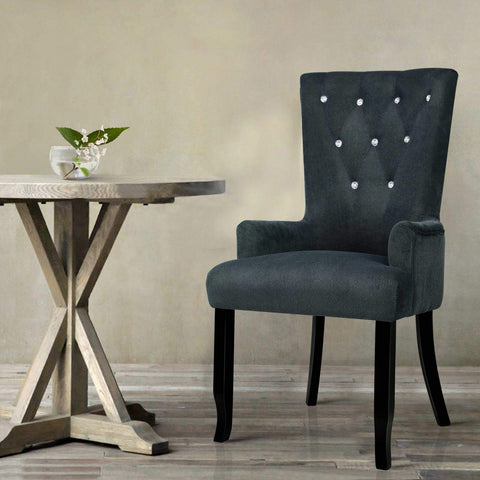 French Provincial Dining Chair - Grey dining chair