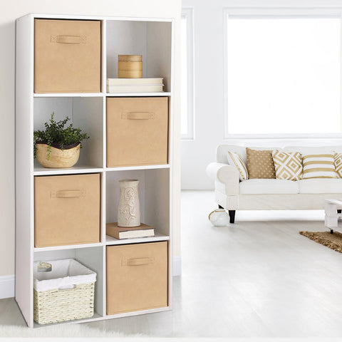 Artiss 8 Cube Display Storage Shelf - White cube storage rack