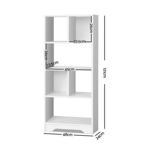 Artiss Display Shelf Bookcase Storage Cabinet - White dimensions