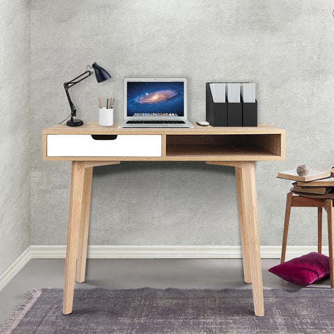 Artiss 2 Drawer Wood Computer Desk lifestyle laptop