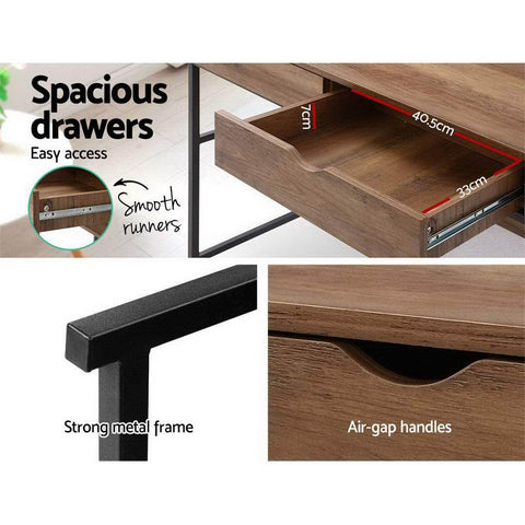 Artiss 'Turis' Office Computer Desk Study Table and Bookshelf Storage with Drawers special drawers