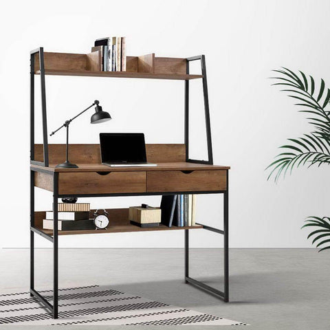 Artiss 'Turis' Office Computer Desk Study Table and Bookshelf Storage with Drawers best study desk Australia