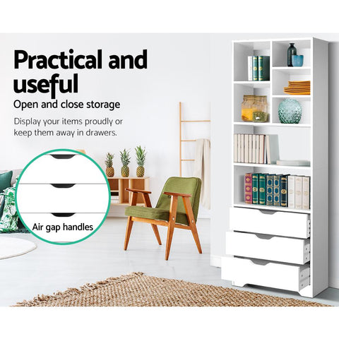 Artiss Display Drawer Shelf - White practical and useful
