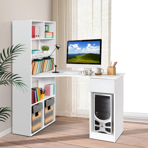 Products Artiss Office Computer Desk Student Study Table Home Workstation Corner Shelf