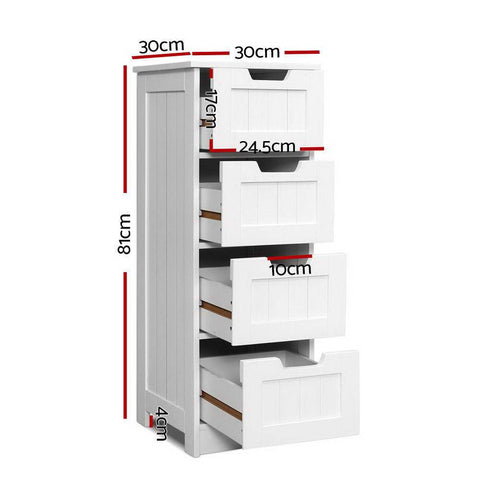 Storage Cabinet Chest of Drawers - White office drawers