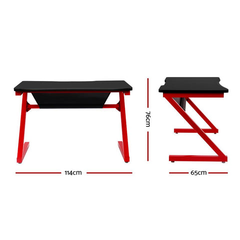 Office Computer Desk Study Gaming Table Laptop Home - Red dimensions