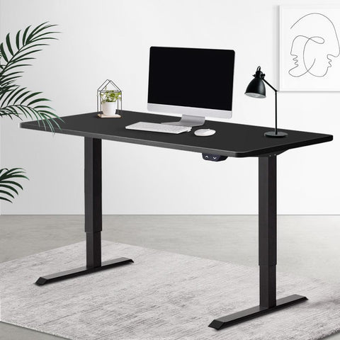 Products Electric 'Roskos I' Motorised Height Adjustable Standing Desk 120cm Black Top with Black Frame