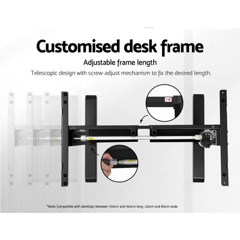 customised desk frame