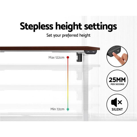 Artiss Standing Desk Sit Stand Table Riser Motorised Electric Height Adjustable Computer Laptop Table Home Office White Frame