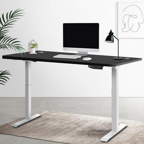 Artiss 'Roskos III' Height Adjustable Standing Desk Sit Stand Motorised Electric - White/Black best sit stand desk