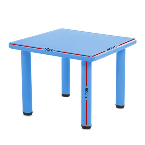 Keezi Kids Study Desk Plastic - Blue dimensions