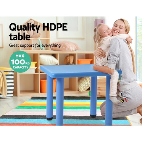 Keezi Kids Study Desk Plastic - Blue kids table