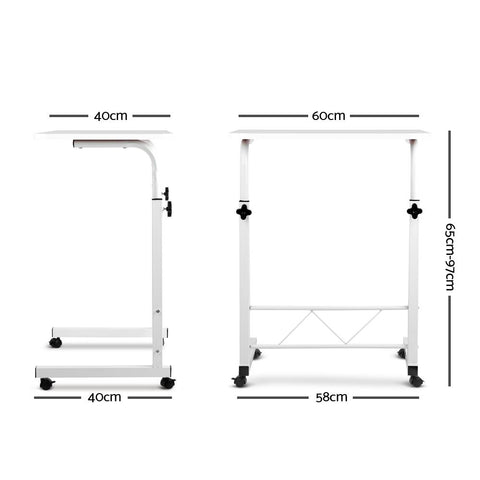 Portable Adjustable Wooden Latpop Stand - White dimensions