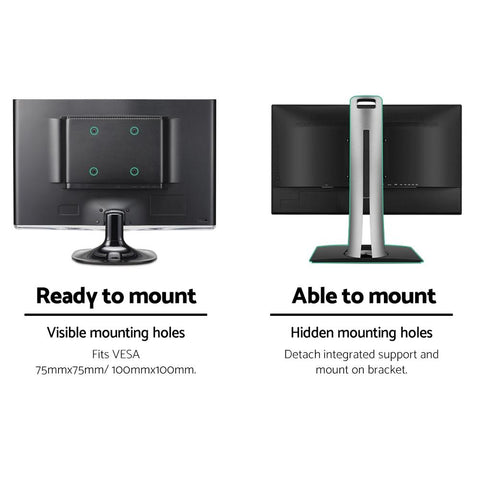 Dual HD LED Monitor Arm Stand TV Mount Holder 2 Arm Display Freestanding easy mounting