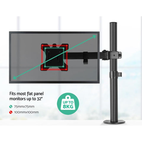 Single LED Monitor Arm Stand Display Bracket Holder retractable screen holder