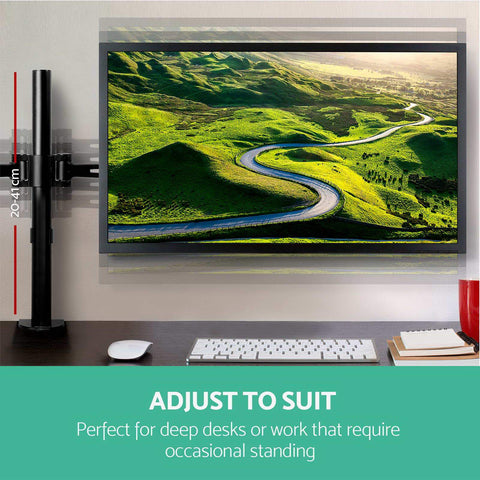 2 Arms Adjustable Monitor Screen Holder adjust to suit
