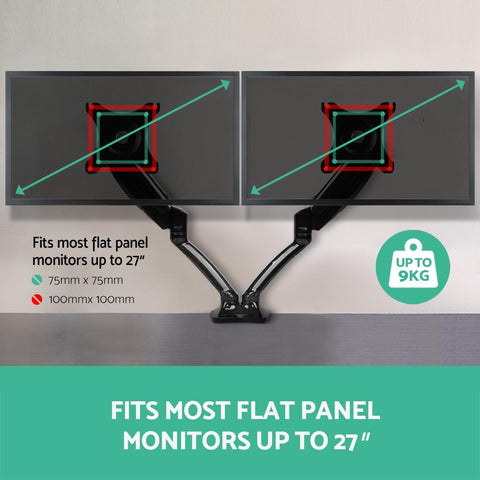 2 Arms Adjustable Monitor Screen Holder Fits most flat panel monitors