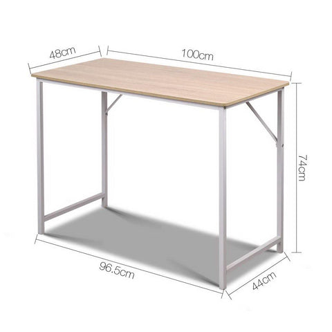 Minimalist Metal Desk - White dimensions