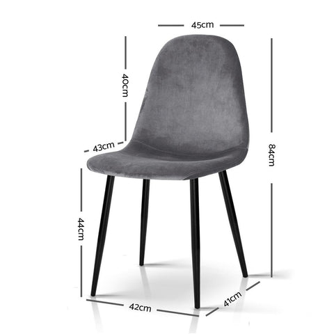Dining Chairs x 4 - Dark Grey dimensions