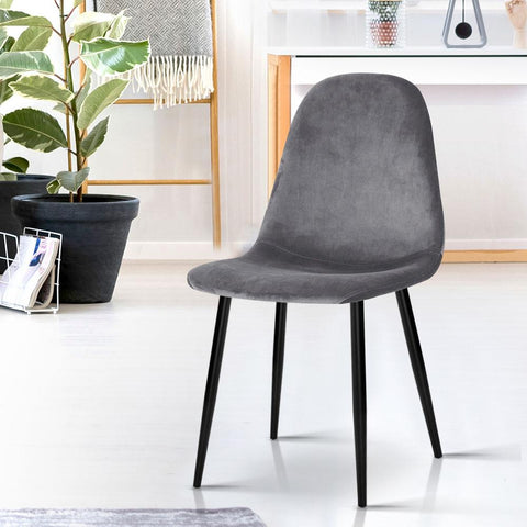 Dining Chairs x 4 - Dark Grey loungeroom