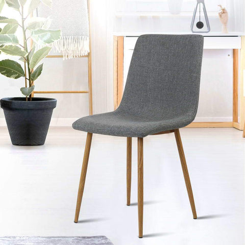 Artiss 'Collins' Dining Chairs x 4 - Dark Grey versatile chair office or dining