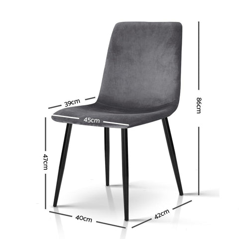 Modern Dining Chairs x 4 - Grey dimensions
