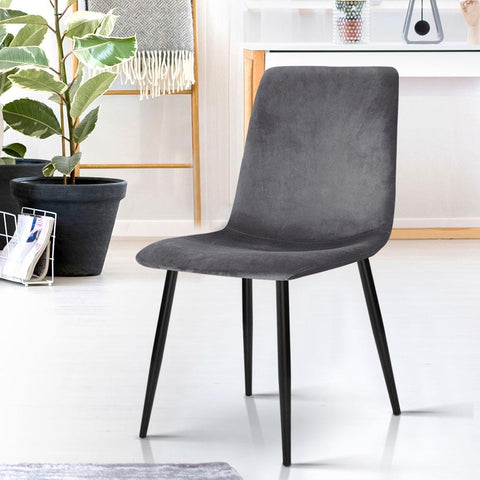 Modern Dining Chairs x 4 - Grey dining chair