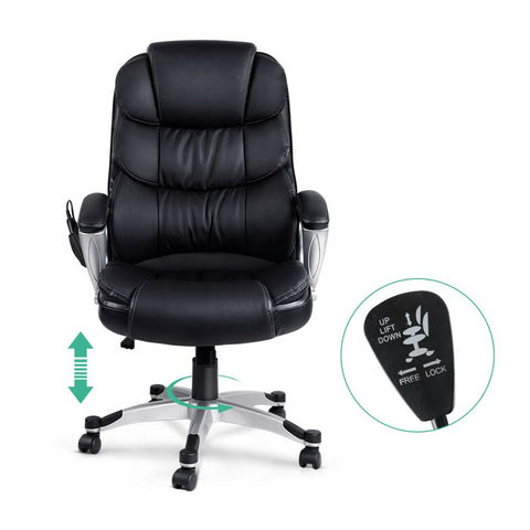 8 Point PU Leather Reclining Massage Chair adjustment