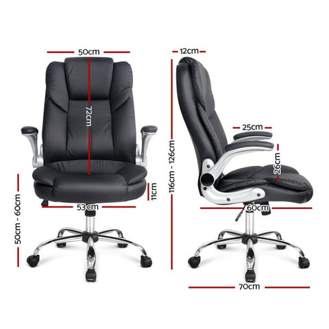 PU Leather Executive Office Desk Chair - Black office chair