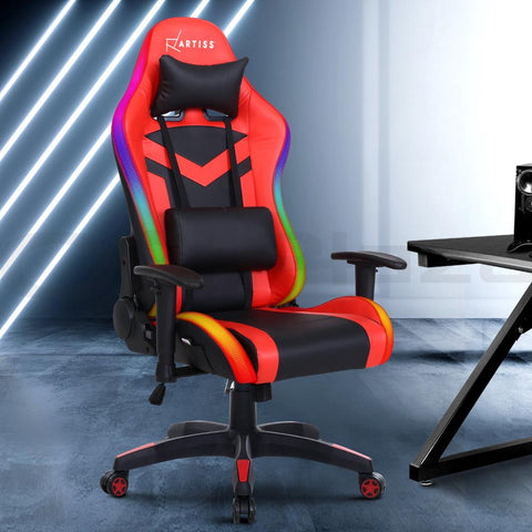 Artiss Gaming LED Lights reclining gamer Chair
